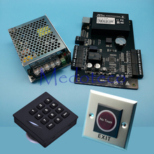 C3-100 Tcp/ip Rfid Door Access Control System Kit Keypad Reader Door Access Controller +030B Power Suppply No touch Exit Button