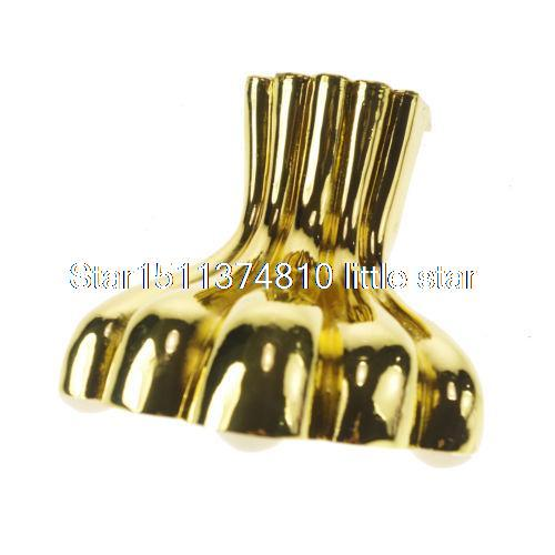 (4) 105mm Metal Furniture Cabinet Legs Tea Table Bed  Chair Sofa Leg Feet Golden<br>