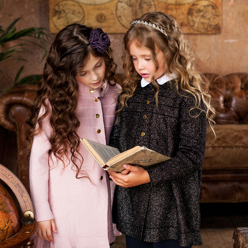 girls fashion coat atmosphere good quality sweater<br>