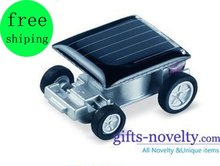 Wholesale 100 Pcs/Lot novelty solar car/world smallest mini solar car/cars+EMS OR FEDEX Free Shipping Drop Shipping