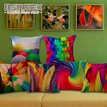 Cushion Cover Colorful Pencils Umbrellas Feathers Dynamic Ripple Whirlpool Creative Pillow Linen Pillowcases 1 PCS/Lot(China)