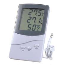 ZEAST Thermometer Hygrometer Digital LCD Indoor Outdoor 1.5m Cable Probe Temperature Humidity Meter -50 to 70 C