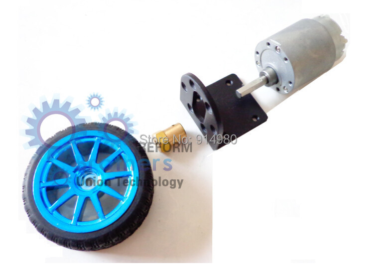 Wheel shaft league apparatus L motor bracket DIY 12 v DC 100RPM gear motor car tyres suit intelligent robot 3.5Kg*cm<br><br>Aliexpress