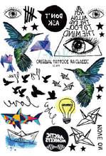 Waterproof Temporary Tattoo Sticker Paper cranes Birds Eye of GODWater Transfer Flash tatto Fake Tattoo for  men girl women