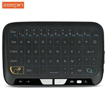 Zeepin H18 2.4GHz Mini Wireless Keyboard with Touchpad Mouse for Windows Android/Google/Smart TV Linux Windows Mac