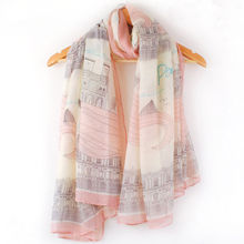 Hot Sale Beautiful Soft Chiffon Women Long Print Cotton Scarf Wrap Ladies Shawl