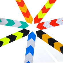 "DWCX 2""X118"" Arrow Safety Warning Conspicuity Reflective Roll Tape Marking Film Sticker For Bikes Bicycles Cars Motorcycle(China)"