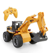 1530 2.4G 6CH Mini RC Excavator USB Engineering Vehicle Truck Toys for Kid Children Remote Control Engineering Navvy(China)