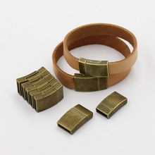 (10 pieces/pack) Magnet buckle for DIY Bracelet Accessories Suitable for 10*2mm 12*2mm Leather Cord