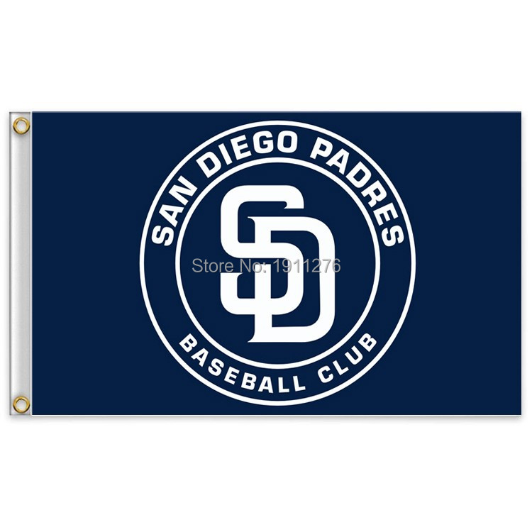 San Diego Padres 7 Major League Baseball MLB MLB pennant pennants 90 * 150cm free shipping 100D sports decoration(China (Mainland))