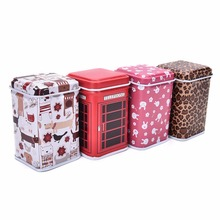 4.3*4.3*6.5cm Square Metal Mini Candy Box Jewelry Iron Pill Tea Coin Containers Home Organizer Storage Boxes Bins 4Styles(China)