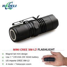 CREE XM-L2 mini powerful led flashlight torch lantern portable light Rechargeable lantern waterproof flash light