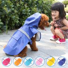 new raincoat dog coat Leisure pet clothes dog raincoat teddy bear big small dog raincoat factory direct sale XS-2XL(China)