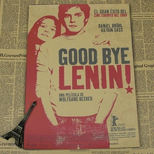 Vintage Poster Good bye Lenin German Kraft film poster decorative painting bar decoration painting retro poster(China)