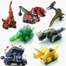 Free shipping Netflix DreamWorks Dinotrux dinosaur toy truck series, dinosaur metal molds construction vehicles toy car models