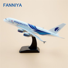FANNIYA 20m Metal Plane Model Air Malaysia Airlines Airbus 380 A380 Airplane Model Airways w Stand Aircraft  Gift