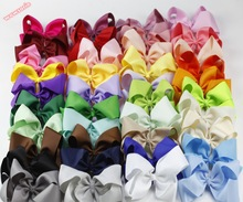 40PCS/LOT The latest hot selling 15cm Large bow hair Hairpin children accessories Multicolor hair clips 40 colors(China)
