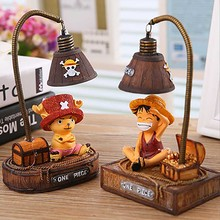 "Creative Night Light The Japanese Anime ""One Piece"" Monkey-D-Luffy/Tony Chopper Garage Kits Light Home Resin Ornaments Crafts"