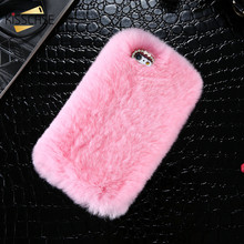 KISSCASE Glitter Diamond Slim Case Capa For iPhone 6 6S 5S SE 6 6S 7 Plus Glossy Rabbit Fur Winter Warm Hair Mobile Phone Cover
