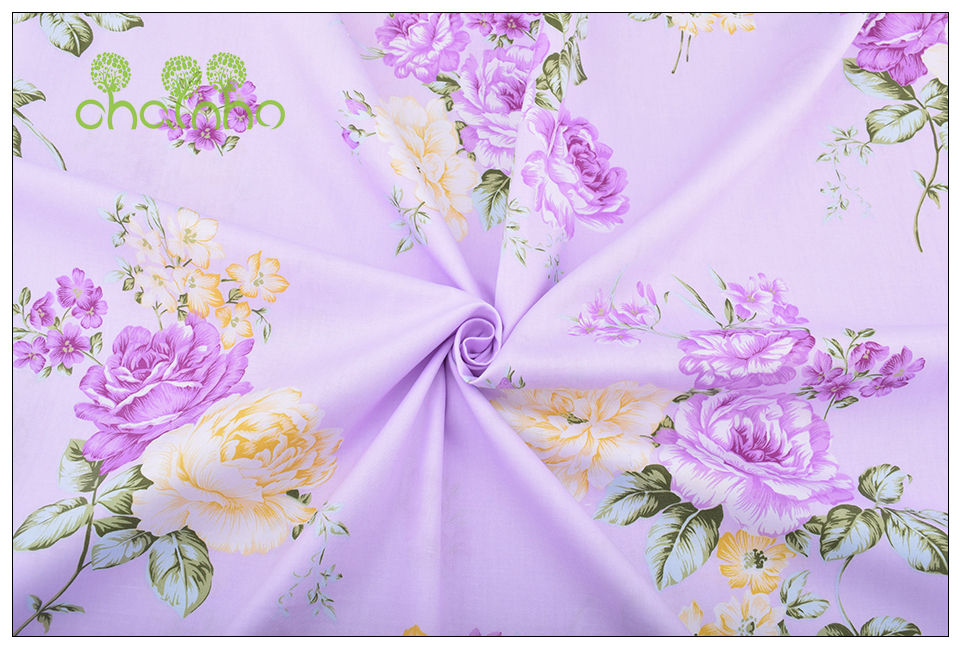 Chainho Twill Cotton Fabric,Patchwork Floral Tissue Cloth,DIY Sewing Quilting Fat Quarters Material For Baby&Children,5pcs/lot 9
