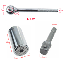 "1/4""-3/4"" 7-19mm Universal key Socket Torque Wrench Set Hex Allen Hand Tools Bolt Hexagon Allen Head Torque Sleeve D4107"