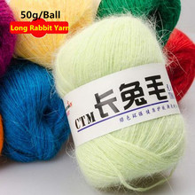 50g/Ball Yarn For Knitting Long Rabbit Hair Wool Knitting Soft Yarn Fingering Baby Crochet Knitting Threads Angora Of Crochet(China)