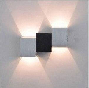 6W High Power 6 LED Wall Light Lamp White Aluminum for Hall Bedroom AC 90-240V<br>