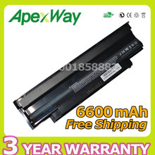 Apexway 9 Cell 11.1V 6600mAh laptop battery 9TCXN FMHC10 J4XDH YXVK2 for Dell Inspiron N4010 N5010 N3010 N7010 13R 14R 15R 17R(China)