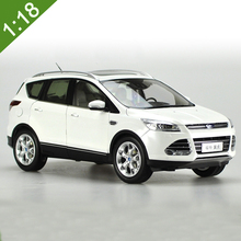 1:18 Scale Diecast Model Car For Ford Kuga Escape 2015 White SUV Alloy Toy Car Collection For Kids Gifts Free Shipping(China)