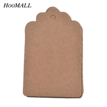 Hoomall 100PCs Kraft Paper Tags Labels Scrapbooking DIY Blank Price Hang Tag For Clothing Wedding Party Decoration Gift Cards