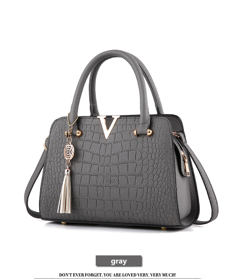 Crocodile Leather Luxury Quality Lady Shoulder Bags 10