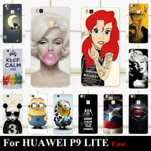 "For Huawei P9 LITE 2016 5.2 "" Hard Plastic Mobile Phone Cover Case DIY Color Paitn Cellphone Bag Shell For Huawei P9LITE"