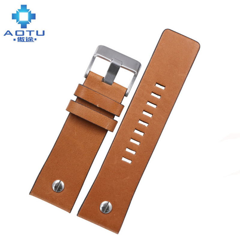 Genuine Leather Watchbands For Diesel DZ7312 DZ7314 Watches Mens Vintage Watch Straps Bracelet Clock Band Correas Para Reloj<br>