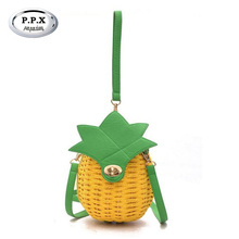 New 2017 Hot Sale Pineapple Bucket Female Bag Joker Cane Makes Up Mini Hand Small Bag Famous Brand Women's Shoulder Bag A541