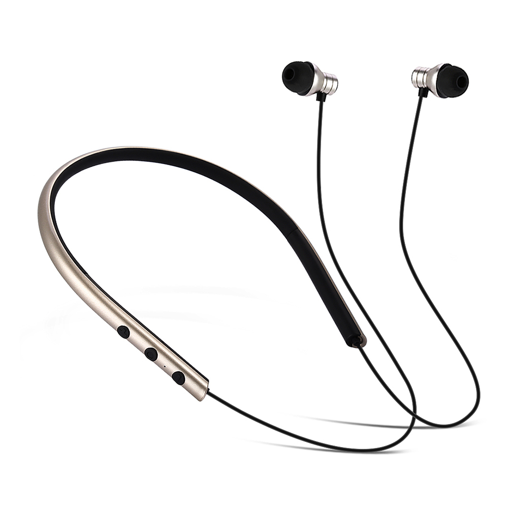 JUSTNEED V4.1 Bluetooth Earphone Neck Type Music Wireless Headphones Sport Stereo Earphone Volume Control With Microphone M2<br>