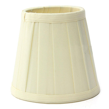 CSS Fabric Chandelier Lampshade Holder Clip on Sconce Beside Bed Lamp Hanging Light, light yellow(China)