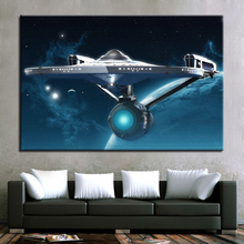 Wall Art Canvas Abstract Pictures HD Prints Framework 1 Piece Star Trek Paintings Movie Enterprise Posters Home Decor Kids Room(China)