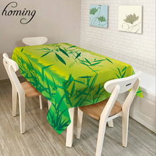 Homing New Rurable Coffee Table Covers Green Prosperous Bamboo Floral Pattern Table Cloth Picnic Beach Towel Home Decor Textile