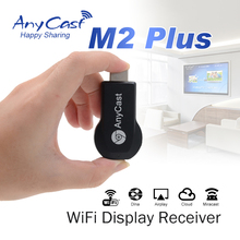 HDMI AnyCast M2 Plus 1080P Wireless WiFi same screen device Miracast CPU AM8252 phone projection TV transmitter Android IOS WIND