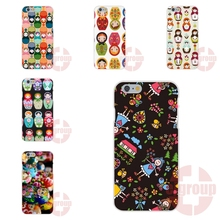 Matrioska Fabric Art For Apple iPhone 4 4S 5 5C SE 6 6S 7 7S Plus 4.7 5.5 Soft TPU Silicon Live Love Phone