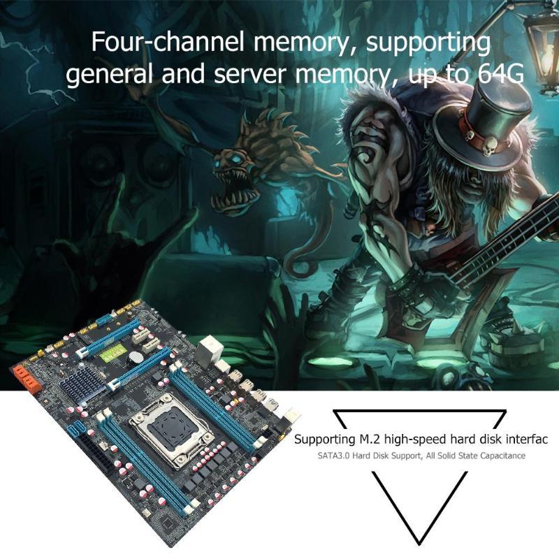Интернет магазин товары для всей семьи HTB1gTixatjvK1RjSspiq6AEqXXaK VAKIND X79 материнской Золотой LGA2011 ATX USB3.0 SATA3 PCI-E NVME M.2 SSD Поддержка 4xDRR3 DIMM ECC REG памяти/Xeon E5 процессор