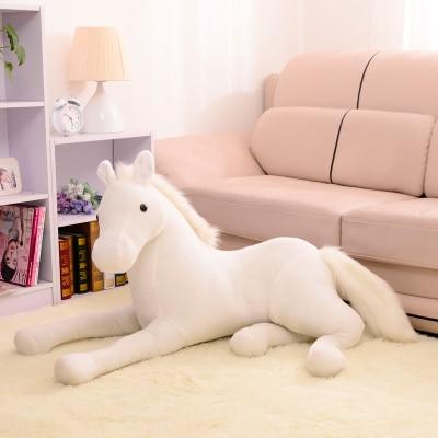simulation animal 70x40cm white horse plush toy handsome horse doll birthday gift w2189<br>