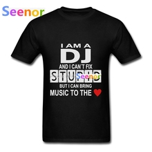 2017 Men T Shirts Online DJ Stupid With Heart Classic Tee Shirts Men Hip Hop Music T-Shirt Plus Size(China)