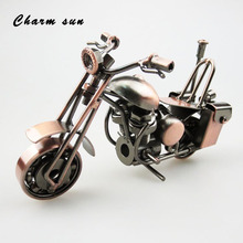 CHARM SUN handmade antique iron motorcycle model metal best office bar KTV decoration home decoration accessories handmade gifts