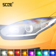 SCOE Car Styling 2x6SMD LED Clearance Light Lamp Bulb Source For Renault Megane Crystal Blue Warm White Red Yellow(China)