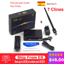 Freesat V8 Super DVB-S2 Satellite Receiver Full 1080P HD FTA Satellite decoder+ USB WIFI support Biss Key newcam 3G IPTV Youporn(China)