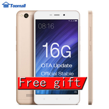 Original Xiaomi Redmi 4A red rice 4A 2GB RAM 16GB ROM Snapdragon 425 Mobile Phone 3120 typ mAh Battery  5.0""