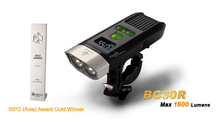 2015 New 1set Fenix BC30R USB rechargeable bike light 1600 lumens OLED display screen 5200mah battery