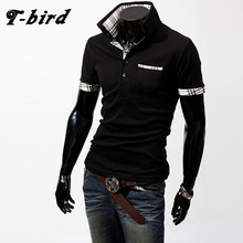 T-Bird New Brand 2017 Male Slim Fit T Shirt Fight Color Mens Cotton Short Sleeve T-Shirts Men Summer Tee Casual Tshirt Men