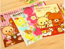 Hot sale student stationery new arrival fashion cute cartoon Rilakkuma bear paper A4 documents file bag. 3pages L shape File fol